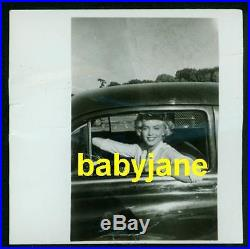 Marilyn Monroe Vintage 2x2 Photo Rare Candid Driving Her Car Taken By A Fan