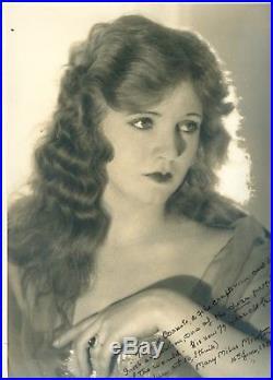 Mary Miles MInter large vintage autographed photo silent film movie star