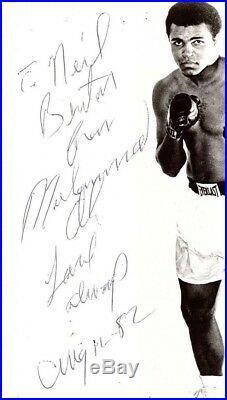 Muhammad Ali Signed Vintage 8x10 B&W Photo JSA Authenticated Rare