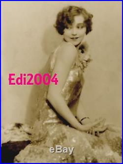 NANCY CARROLL Vintage Original Photo HAL PHYFE Double Weight OVERSIZE PORTRAIT