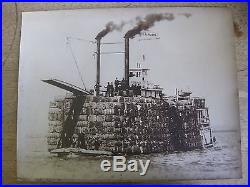 NATE ROBBINS RIVERBOAT original vintage photograph large 14 X 11 cotton
