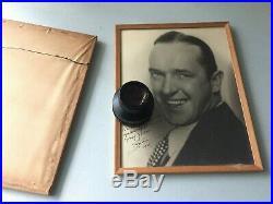 NICE Vintage PAIR of B&W Portrait Hand Signed by Laurel & Hardy ORIGINAL