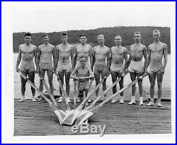 Navy Sculling Crew, 1939, vintage wire service photo, gay interest, rowing crew