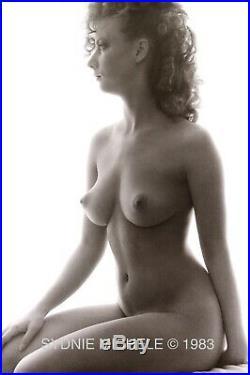 Nude Female Photo 8x10 B&w Vintage Dkrm Print Signed Original 1983