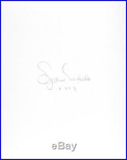 Nude Female Photo 8x10 Vintage B&w Dkrm Print Signed Orig