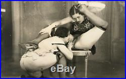 Nude Lesbians in Action Scarce Vintage Photograph c1910-1925