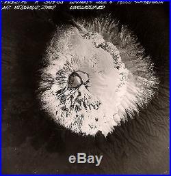 Old Vintage 1954 Usaf Recon Abstract Photo Mt. Vesuvius Volcano Eye Naples Italy