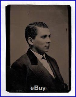 Old Vintage Antique Tintype Photo Prominent Black African American Gentleman Man