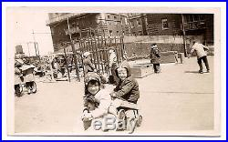 Old Vintage Photo 1947 Ethical Culture School Little Children On Playground