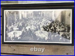 Old Yardlong Style Groups Banquet Outing Club Photographs Lot of 4 Pieces