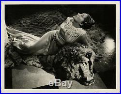 Opulent Fine Art Deco Gloria Swanson Vintage Large Format Glamour Photograph 30s
