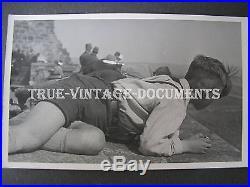 Orig. Vintage Photobeautifull Hj Teen Boy In Shorts On A Castle Wallyouth Men