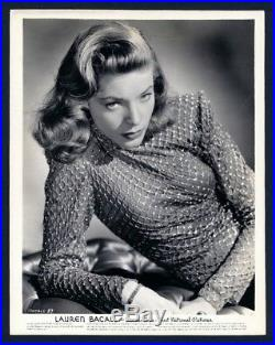 Original 1944 LAUREN BACALL superb vintage portrait in superlative condition