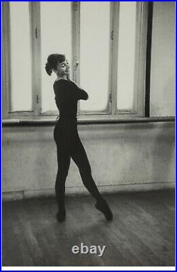 Original 1956 Photo David Chim Seymour Audrey Hepburn Funny Face Gelatin Silver