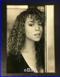 Original 1990 Mariah Carey Press Photo Wire Vintage Rare B&W Photograph Music