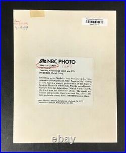 Original 1996 Mariah Carey Press Photo Wire Vintage Rare B&W Photograph Music