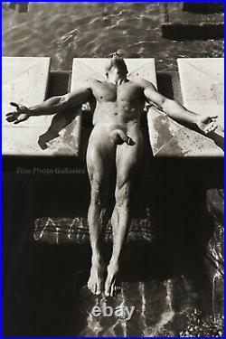 Original JAY JORGENSEN Male Nude Man Swimmer Gay Int Signed Silver Gelatin Photo