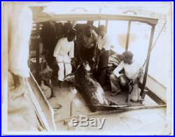 Original Vintage B&W Photo ERNEST HEMINGWAY 1932 Big Game Fishing