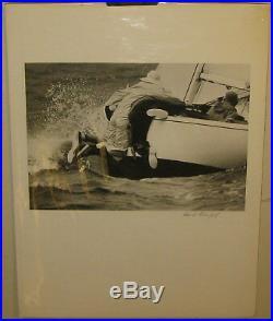 Original Vintage DAVID ROSENFELD'Sailboat SAILORS Ballasting BOAT' PHOTOGRAPH