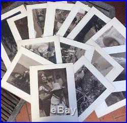 Original Vintage Silver Print Photograph 1920s Mexico Hugo Brehme Signed Mantel