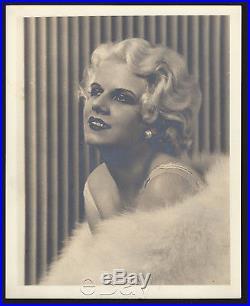 Original vintage 1930s JEAN HARLOW double-weight portrait (family provenance) #2