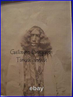 Original vintage photo, Turkish Dervish, Guillaume Berggren (1835-1920) 1875ca