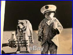 Our Gang Very Rare Vintage Original 30s 8/10 Photo Very Young Spanky & Pete Dog