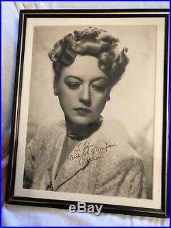 Oversized 11x14 Vintage Marion Davies Autograph On Stamped James Manatt Photos