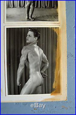 Pat Burnham, Male Nude, Physique, Vintage 50's Show Card, RARE, Gay Interest