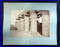 Photo Egypt LOUXOR TEMPLE Vintage 1880 Albumen Print 10.2x14.6 in. By A. BEATO
