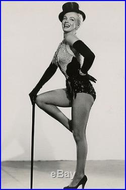 Pin-Up Showgirl Marilyn Monroe Gentlemen Prefer Blondes Vintage Photograph 1953