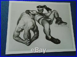 RARE GAY Vintage LÜGER/JIM FRENCH 6 Print Portfolio SILENT MEN Colt Studio 1992