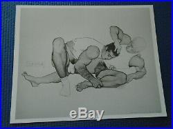 RARE GAY Vintage LÜGER/JIM FRENCH 6 Print Portfolio WRESTLERS Colt Studio 1992