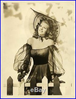 RITA HAYWORTH / TONIGHT AND EVERY NIGHT (1945) Vtg orig 11x14 dbl wt sepia print