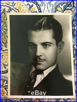 Ramon Novarro vintage 10x13 portrait stamped Hurrell