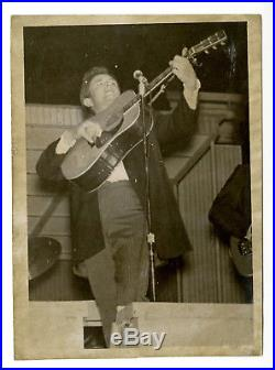 Rare 1960's Johnny Cash 5 x 7 Original Vintage B&W Photo Folsom Prison Blues