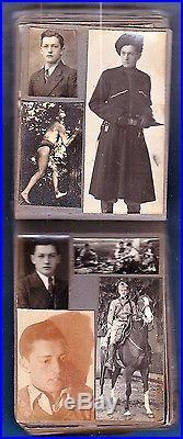 Rare 93 photo vintage pocket album & address book of gay boy c 1935 nude France