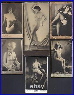 Rare Antique Austrian German Risqué CDV Photographs Female Nudes Women 1890