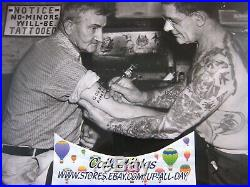 Rare, Large 1930s Vintage 14 x 11 Photo, Signed.'' Tattoo Charlie''. Tattooing