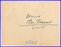 Rare One of a Kind 1925 Vintage Golf Swing Sequence Photo of Willie MacFarlane