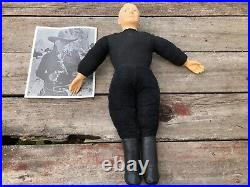 Rare Original Vintage 1950's Ideal HOPALONG CASSIDY 21 Doll w Black White Photo
