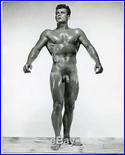 Rare Stunning Vintage 8x10 JACK THOMAS by RUSS WARNER Iconic Physique Pose