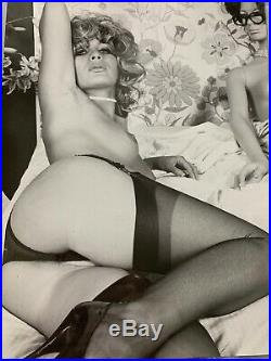 Rare Vintage 1950-60 B/W 8X10 Risqué POSED MODEL With Mannequin By SERGE JACQUES