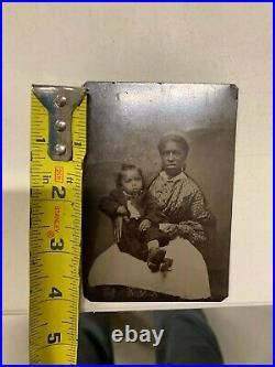 Rare Vintage Civil War Era Nanny Tin Type Photo