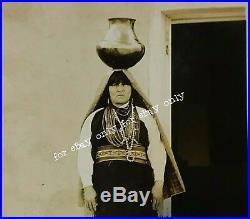 Rare Vintage Old Photo of Santa Clara Pueblo Woman Native American New Mexico