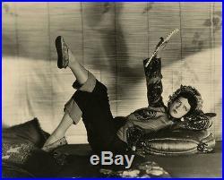 Rarest Vintage 1920s Oversized Clara Bow Orientalist Jazz Age Photograph Richee