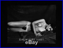 Reclining Nude Female Photo B&w Vintage 4x5 Dkrm Contact Print Signed Orig