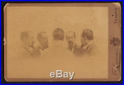 Repeating Mgician Ghost Man 1895 Vintage Mirror Trick Photography Photo Italy