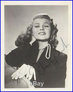 Rita Hayworth Original Vintage MGM Photo Hand Signed 4 x 5 Portrait Photo