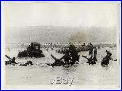Robert Capa VINTAGE 1944 D-Day One of Magnificent Eleven VERY RARE Press Photo